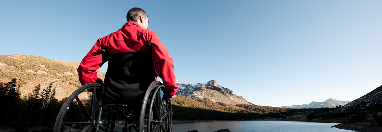 Wheelchair user going hiking