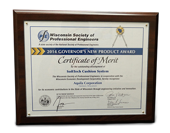 Aquila has earned many certificates of merit for their wheelchair cushion systems.