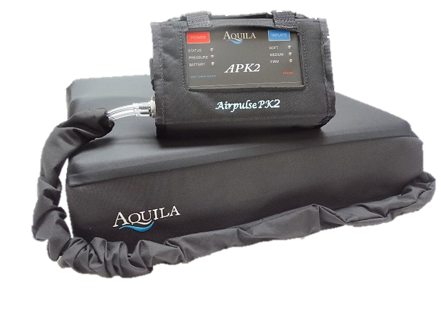 The Aquila Airpulse PK2 cushion compared to a static air cushion.